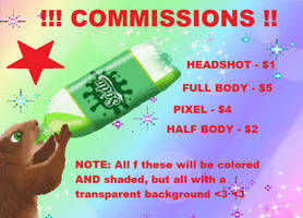 !! COMMISSION INFO !! O P E N !! by Star-Stash-Universe