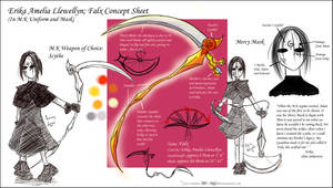 Falx and Erika Model Sheet by BaGgY666