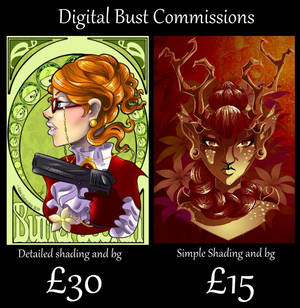 2015 Digital Commissions: Portraits by BaGgY666