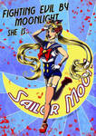 Fighting Evil by Moonlight | Sailor Moon Pinup by BaGgY666