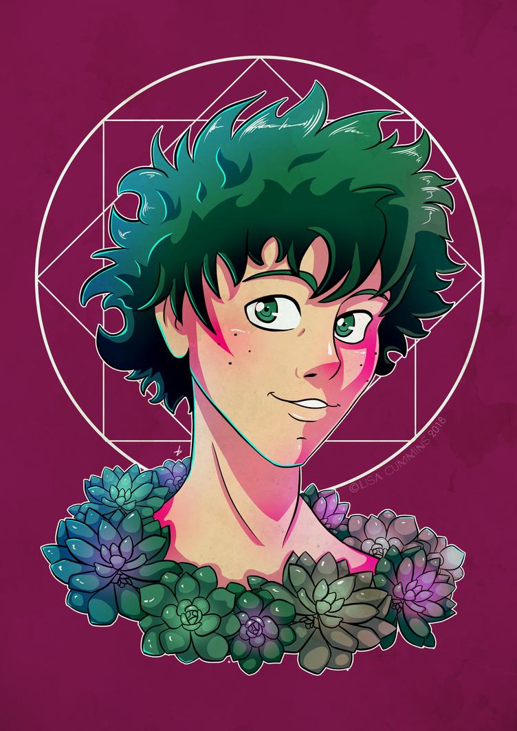 Midoriya + Succulents by BaGgY666