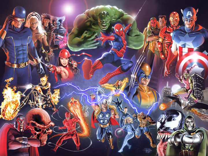 Marvel Heroes by BrianRood