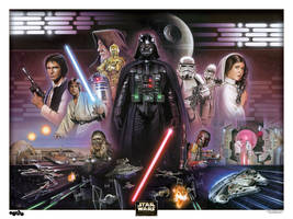 Star Wars Litho by BrianRood
