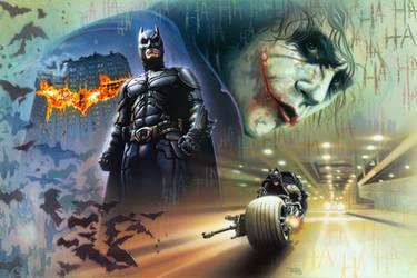 Batman and Joker by BrianRood