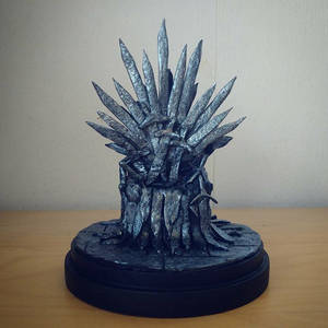 The iron throne clay model