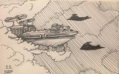 Inktober 2017: Day 25 Ship
