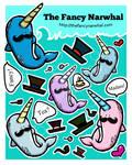 TheFancyNarwhal Sticker Set II by aunjuli