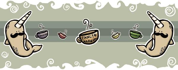 Classy Fancy Narwhal Mug by aunjuli