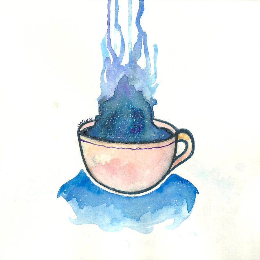 Space Tea Ocean by aunjuli