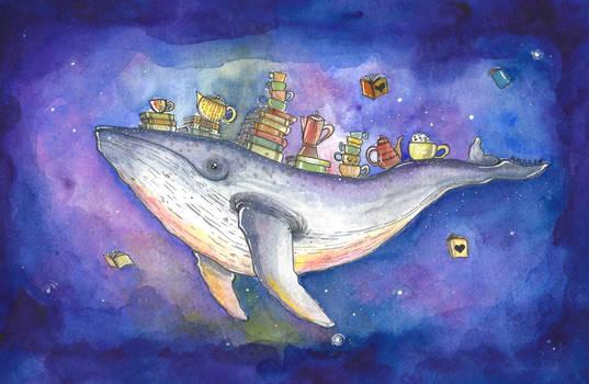 Galaxy Whale by aunjuli