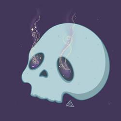 Sleep-infused Starry-eyed Skull