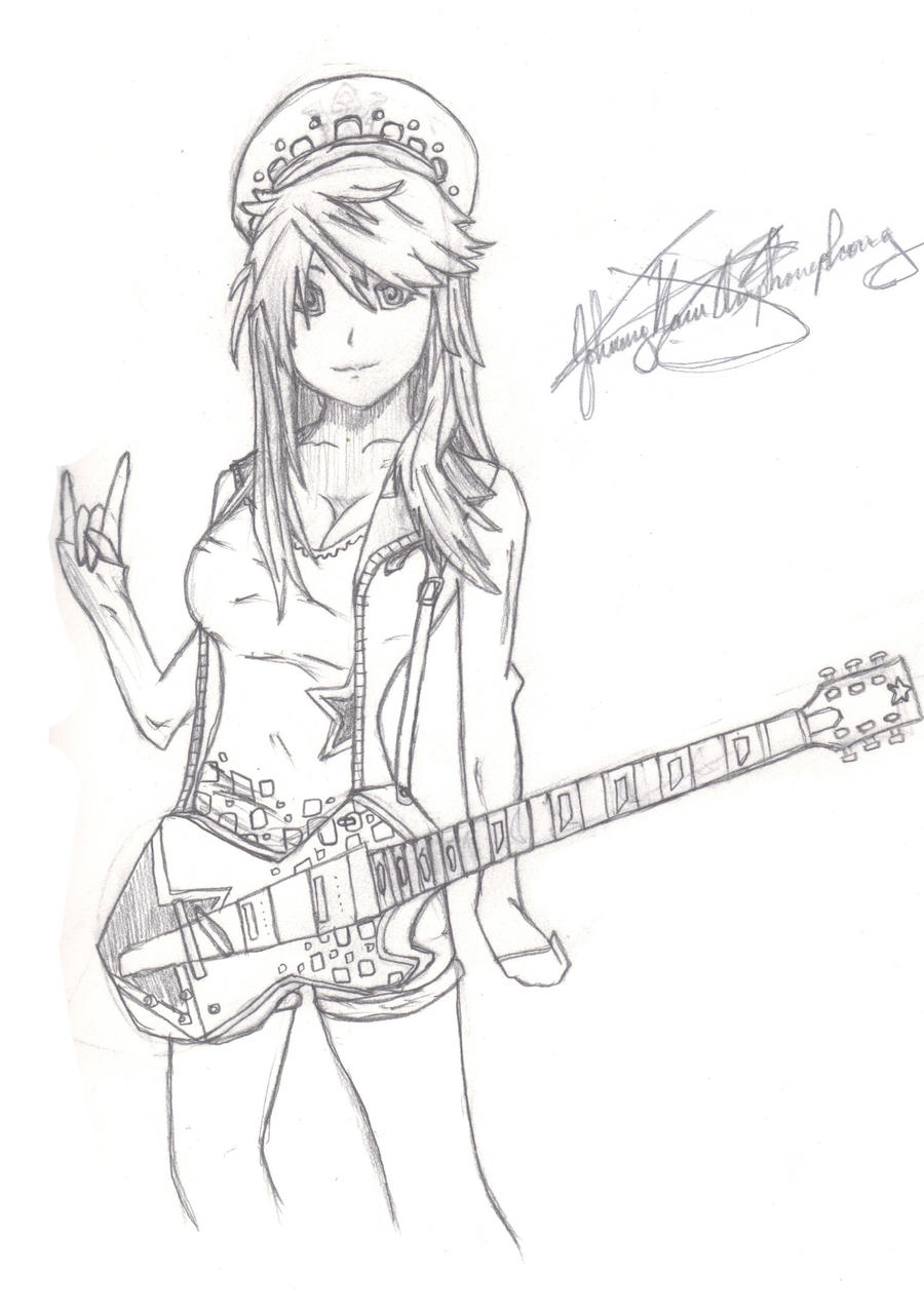 Anime Guitar Chick By Johnny-Naru On DeviantArt