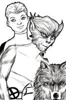 X-Draw 2009: Wolfsbane by chadleyc