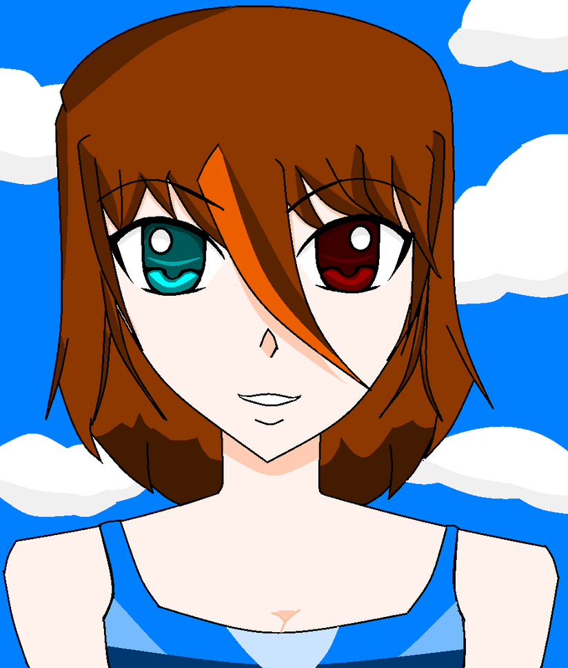 Anime Different Colored Eyes Anime Girl With Different Eye