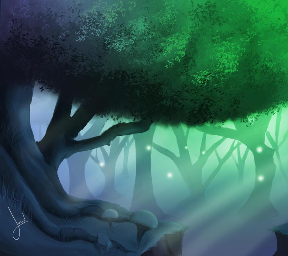 Magical forest by JuzenArt
