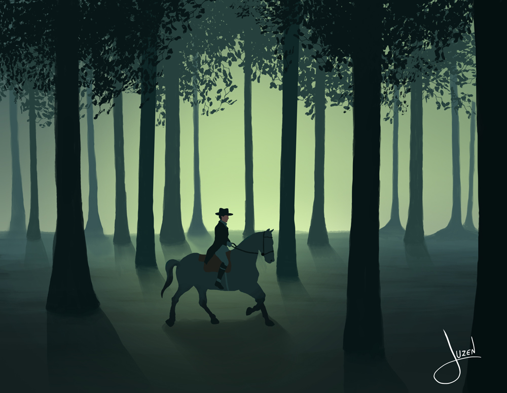 horse rider by JuzenArt