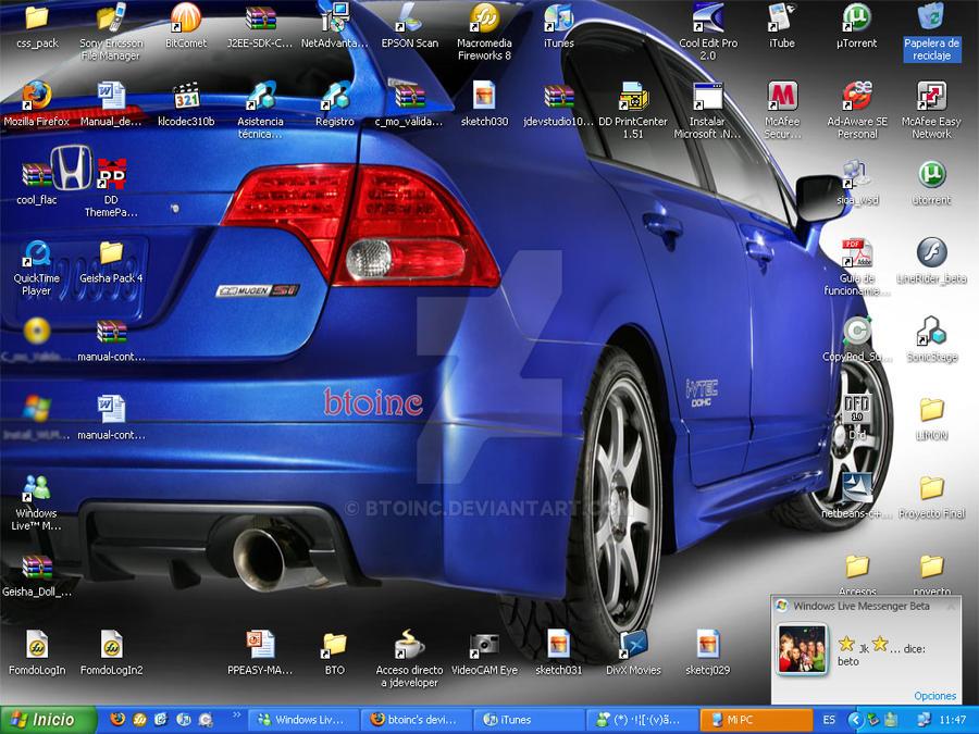 Honda Mugen Desktop Screenshot