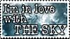 Sky lover stamp by btoinc