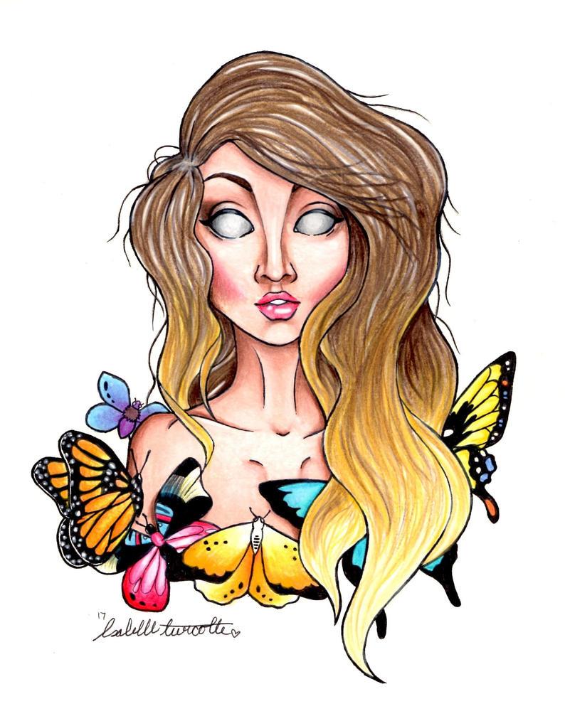 A girl should be like a butterfly by IzabelleGlambert