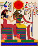 Ra and Isis - Nefertari's Tomb