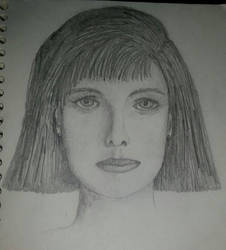 Face I sketched in 1987 by ladylithia