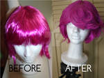 Wig Before, after