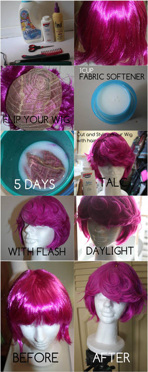 Removing the shine to your wig