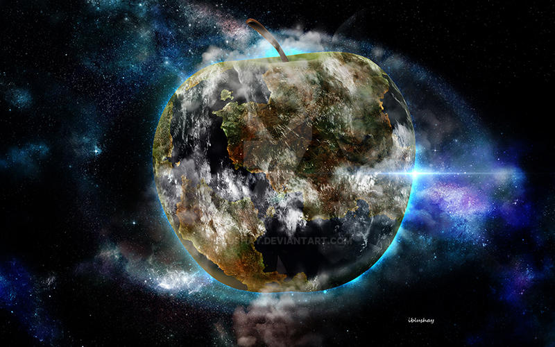 Apple planet by iblushay
