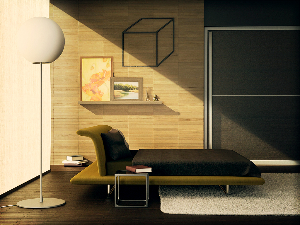 simple interior by ylegreg