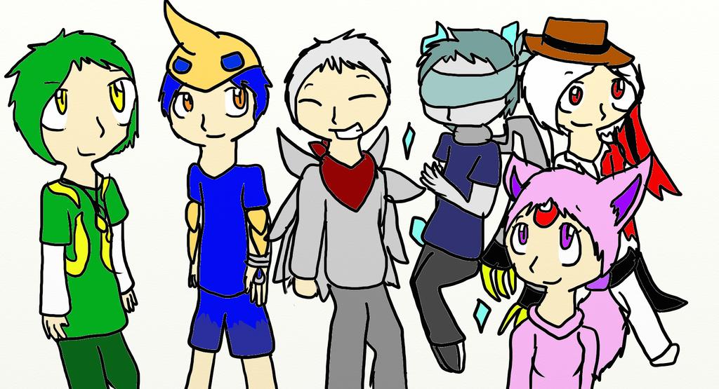 My Pokemon Black team by SparkyChan23