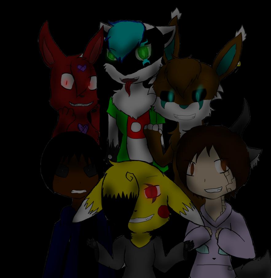 6 Creepy Friends by SparkyChan23