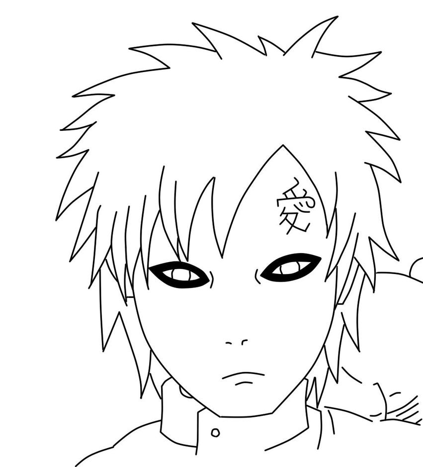 gaara coloring pages - photo#8