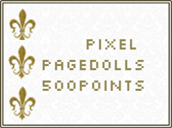 500 points Pixel Page Doll [Pay Here Button] by Buujang