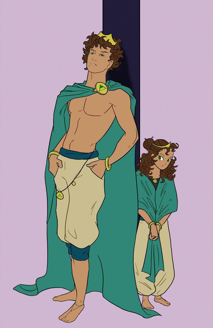 Prince Alen and Princess Ayah by DC-Girl
