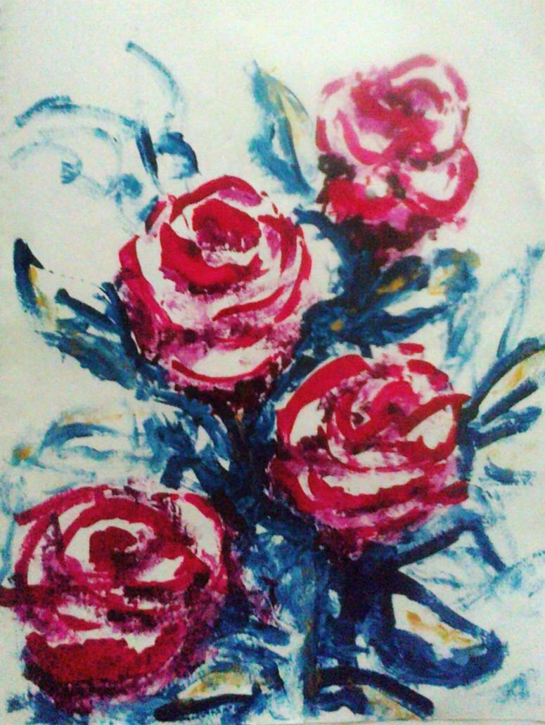Red roses by Lupilstinskin