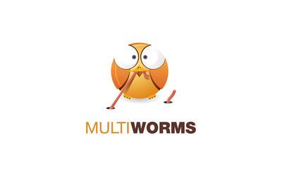 MultiWorms - logo by Blashko