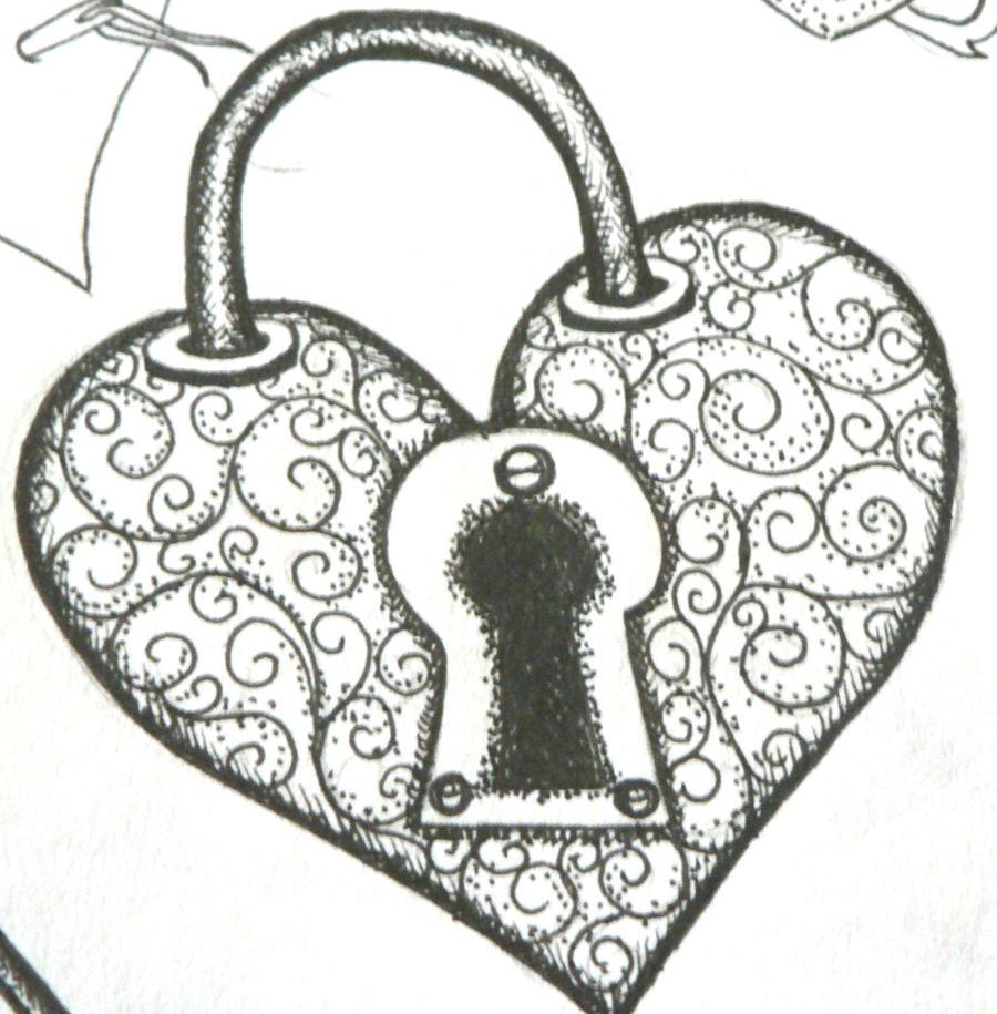 heart pad lock by lindseybishop4141 on deviantart