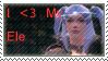 I love my ele, female stamp by kumiko-sakara