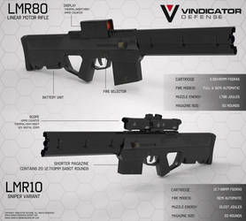Linear Motor Rifle 80 and a sniper variant. by VindiCaToR285