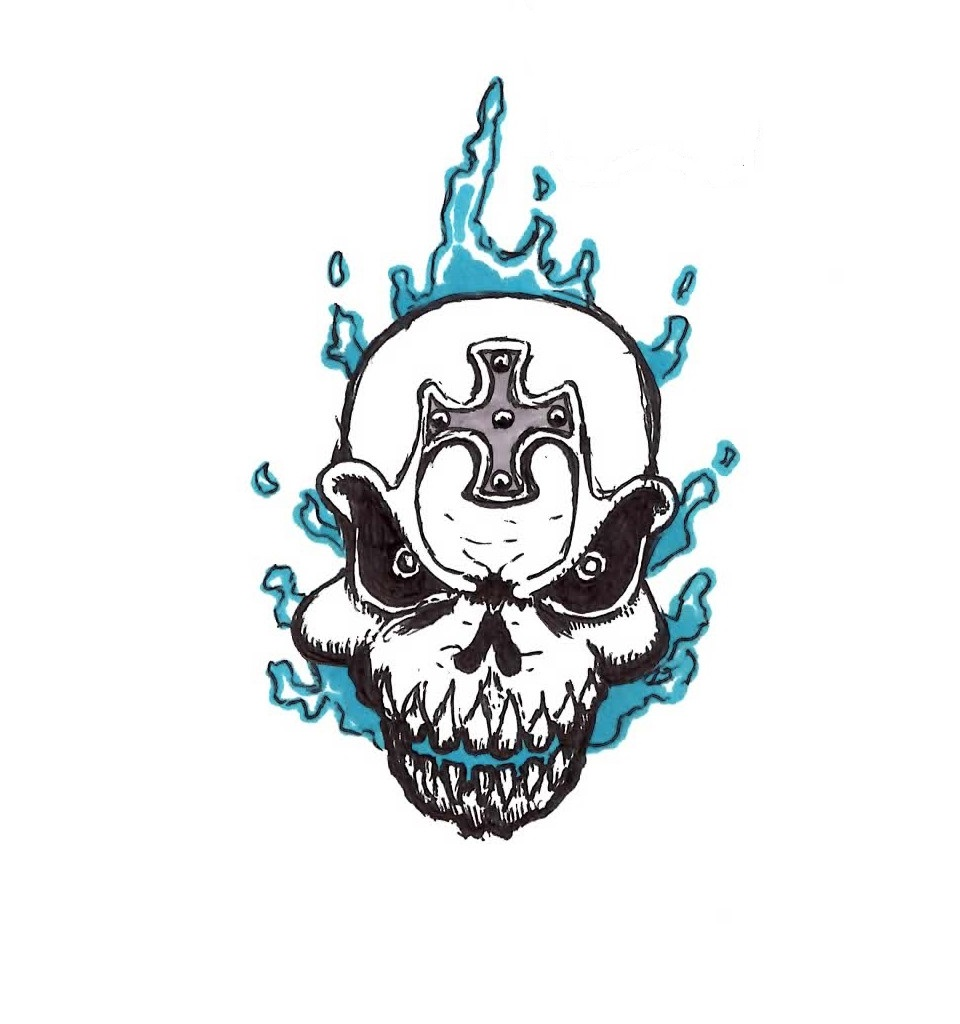 Blue Flame Skull Tattoo By Jmbownz On Deviantart