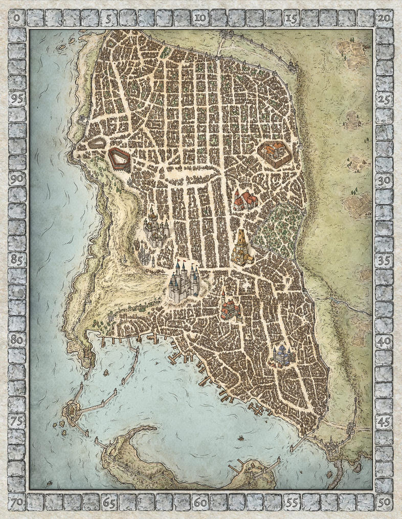 lords of waterdeep boardgame map by mikeschley on deviantart