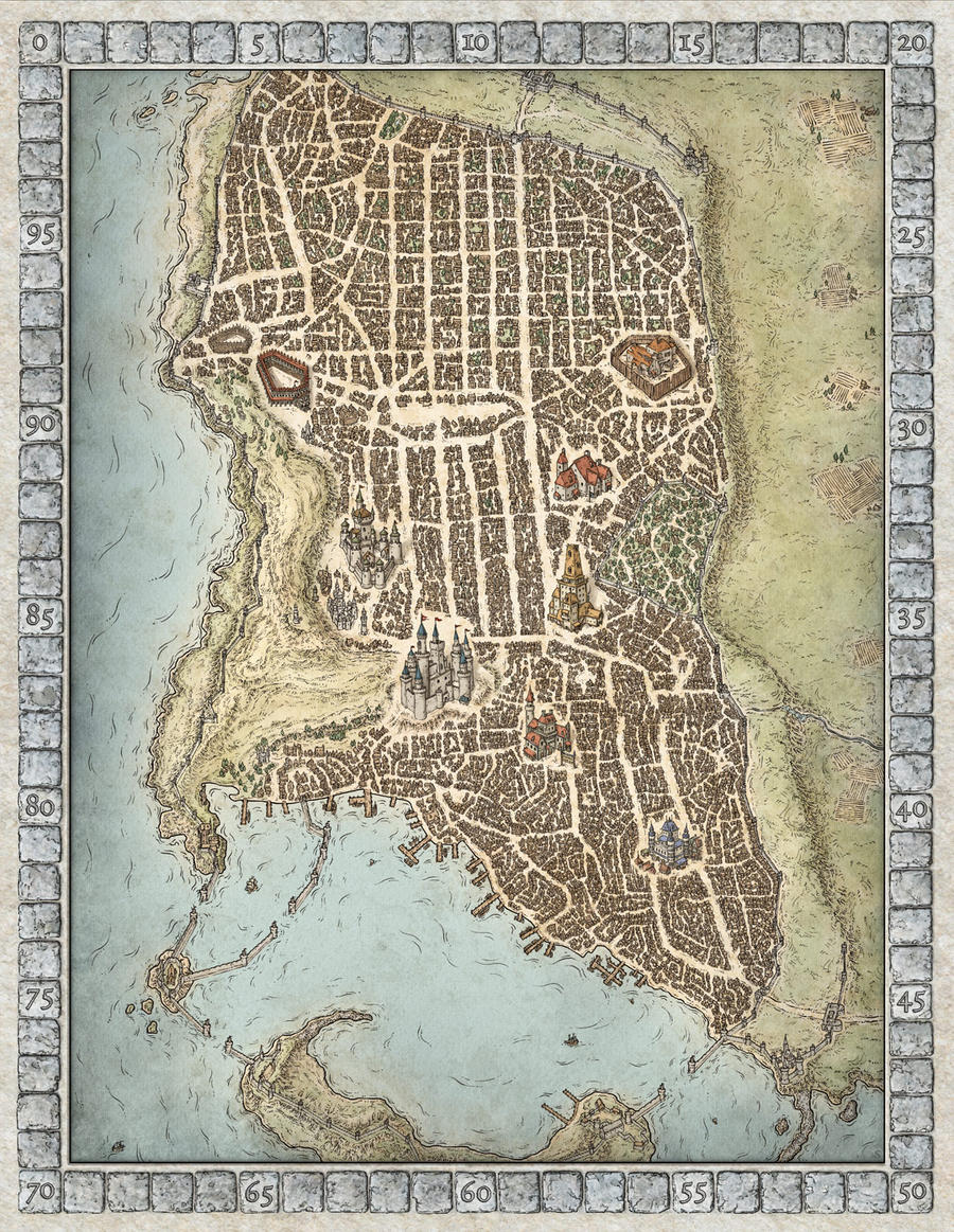 Paid Seeking A Single Gladiator City Map For A Fantasy Themed