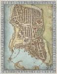 Lords of Waterdeep Boardgame Map