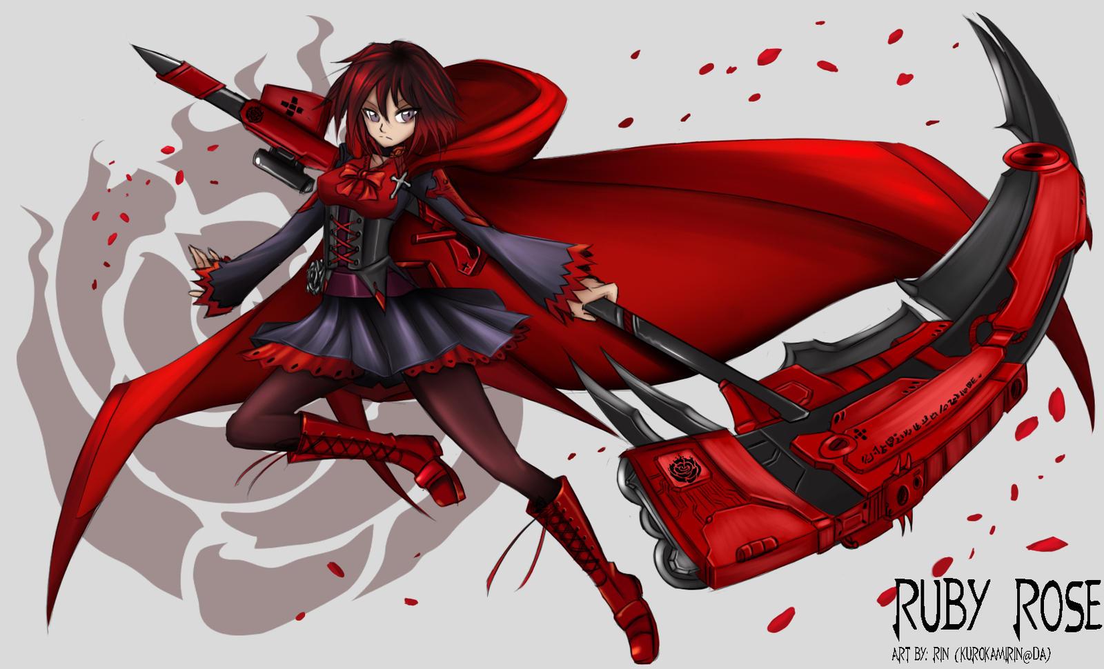 Rwby ruby rose by kurokamirin on deviantart - Rwby deviantart ...