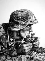 Soldier with binoculars by chuckie96