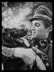 German soldier with dog