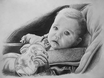 Babygirl in car