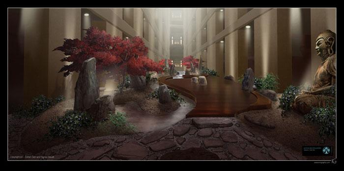 Buddha bar interior zen garden by staudtagi on deviantart for Interior zen garden
