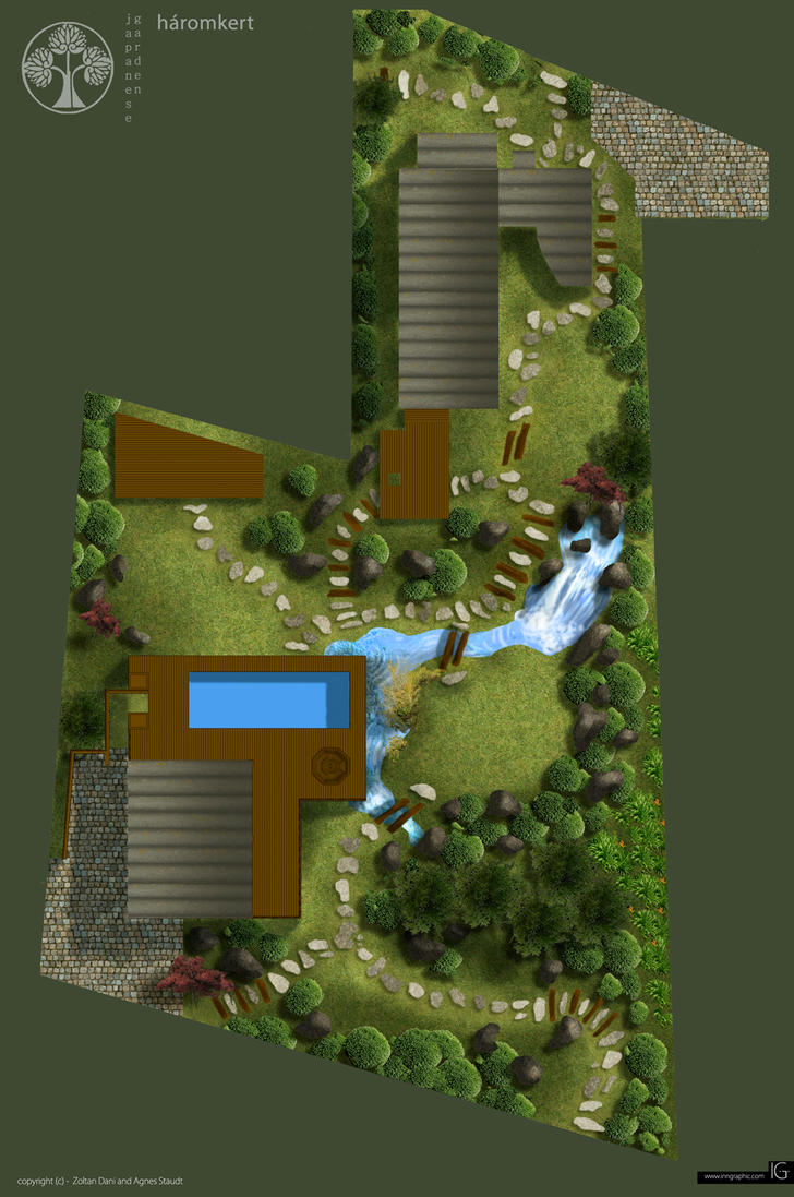 japanese garden design layout by staudtagi - Minecraft Garden Designs