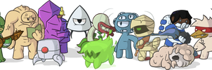 Nuclear Throne Characters by TaggedInBlue